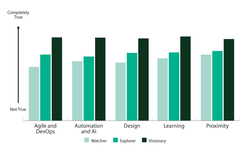 Visionary companies have superior accelerator capabilities