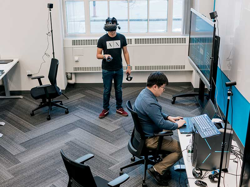 Our Hub is home to virtual reality experiences