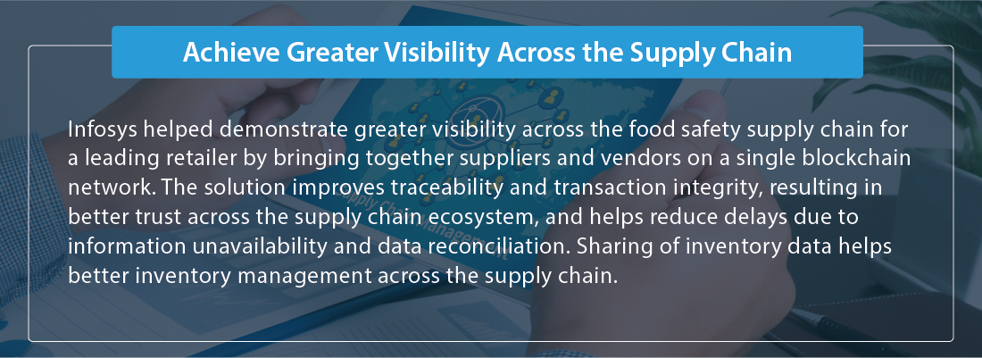 Achieve greater visibility across the supply chain