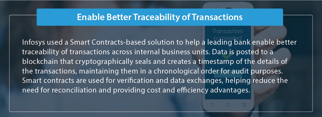 Enable better traceability of transactions