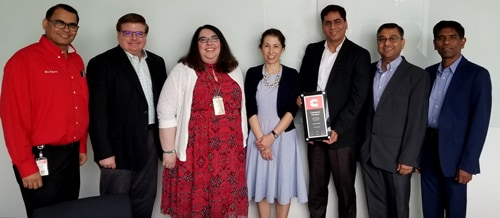 Cummins Honors Infosys with Category Partner Award