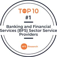 Infosys ranks #1 service provider in HFS Top 10 Banking  and Financial Services (BFS) Sector Service Providers 2019